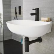 Siphon lavabo noir laiton - Nox