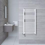 Hudson Reed Sèche-Serviettes Mixte Incurvé Blanc Etna 120cm x 60cm x 5cm 766 Watts