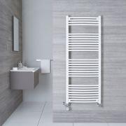 Hudson Reed Sèche-Serviettes Mixte Incurvé Blanc Etna 150cm x 60cm x 5cm 942 Watts