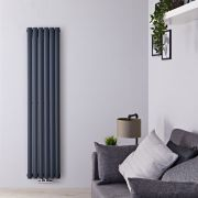Radiateur Design Vertical 160 x 35.4cm Vitality Caldae Anthracite 1289 watts