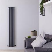 Radiateur Design Vertical Anthracite Vitality 160cm x 23,6cm x 7,8cm 819 Watts
