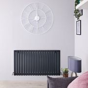 Radiateur Design Horizontal Anthracite Sloane 63,5cm x 118cm x 5,3cm 1203 Watts