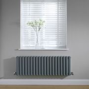 Radiateur horizontal anthracite Vitality 40 x 118cm 1238 watts