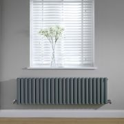 Radiateur horizontal anthracite Vitality 40 x 141cm 1485 watts