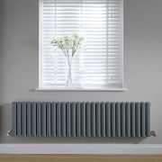 Radiateur horizontal anthracite Vitality 40 x 164.7cm 1733 watts