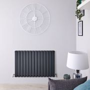 Radiateur Design Horizontal Anthracite Delta 63,5cm x 98cm x 5,8cm 1338 Watts