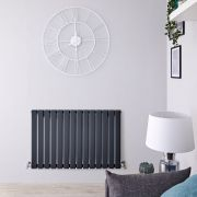 Radiateur Design Horizontal Anthracite Delta 63,5cm x 98cm x 4,6cm 876 Watts