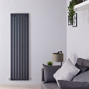 Radiateur Design Vertical Anthracite Delta 160cm x 49cm x 4,7cm 1026 Watts