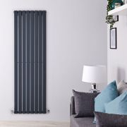 Radiateur Design Vertical Anthracite Delta 160cm x 56cm x 4,7cm 1172 Watts
