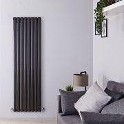 Radiateur Design Vertical Noir Vitality 160cm x 47.2cm x 7,8cm 1638 Watts