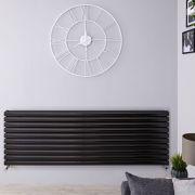 Radiateur Design Horizontal Noir Vitality 59cm x 160cm x 7,8cm 1881 Watts