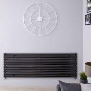 Radiateur Design Horizontal Noir Vitality 59cm x 160cm x 5,5cm 1299 Watts