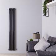 Radiateur Design Vertical Noir Vitality 160cm x 23,6cm x 7,8cm 819 Watts