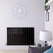 Radiateur Design Horizontal Noir Delta 63,5cm x 98cm x 5,8cm 1338 Watts