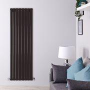 Radiateur Design Vertical Noir Delta 160cm x 56cm x 6cm 1764 Watts