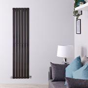 Radiateur Design Vertical Noir Delta 160cm x 42cm x 4,7cm 879 Watts