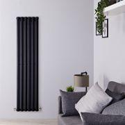 Radiateur Design Vertical Noir Salisbury 160cm x 42cm x 6cm 946 Watts