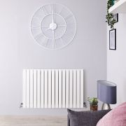 Radiateur Design Horizontal Blanc Sloane 63,5cm x 100cm x 5,4cm 1022 Watts