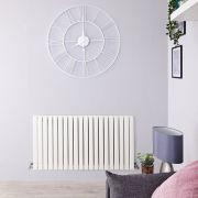 Radiateur Design Horizontal Blanc Sloane 63,5cm x 83,4cm x 5,4cm 842 Watts