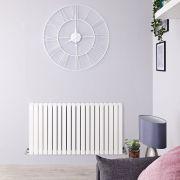 Radiateur Design Horizontal Blanc Sloane 63,5cm x 120cm x 7,1cm 1867 Watts