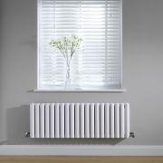 Radiateur Design Horizontal Blanc Vitality 40cm x 118cm x 7,8cm 1377 Watts