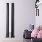 Radiateur Design Vertical Anthracite Sloane 180cm x 38,1cm x 13cm 1682 Watts