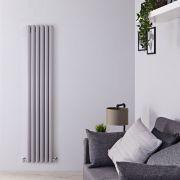 Radiateur Design Vertical Gris Argenté Vitality 180cm x 35,4cm x 7,8cm 1385 Watts