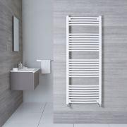 Sèche-Serviettes Incurvé Blanc Etna 150cm x 60cm x 5cm 928 Watts