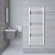 Hudson Reed Sèche-Serviettes Électrique Incurvé Blanc Etna 150cm x 60cm x 5cm