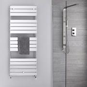 Sèche-serviettes eau chaude Chromé 151.2 x 60cm 666 watts Lustro