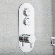 Mitigeur Douche Thermostatique Encastré Design Rond Idro
