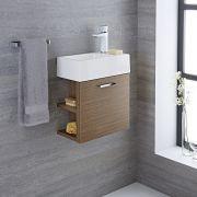 Meuble-lavabo Langley Chêne 40x22x46cm
