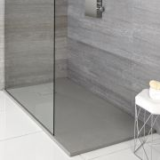 Receveur de douche rectangulaire gris perle 120x80cm