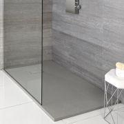 Receveur de douche rectangulaire gris perle 150x90cm