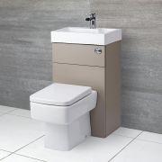 WC Lave Main Cubique Gris & Blanc