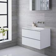 Meuble-lavabo 75x48x52cm Blanc laqué Randwick