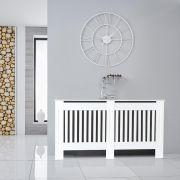 Cache radiateur horizontal blanc - 81,5 cm x 152 cm
