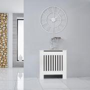 Cache radiateur vertical blanc - 81, 5 cm x 78 cm