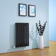 Radiateur Design Électrique Horizontal Noir Vitality 63,5cm x 41,5cm x 5,5cm
