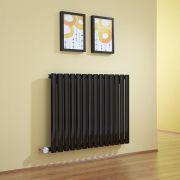 Radiateur Design Électrique Horizontal Noir Vitality 63,5cm x 83.4cm x 5,6cm