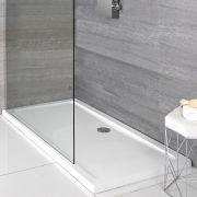 Receveur de douche rectangulaire blanc - Choix de tailles