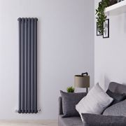 Radiateur Design Vertical Anthracite Saffre 150cm x 38,3cm x 8cm 1258 Watts