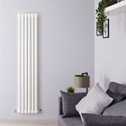 Radiateur Design Vertical Blanc Saffre 150cm x 38,3cm x 8cm 1258 Watts