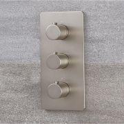 Mitigeur de douche thermostatique - 3 Fonctions - Harting Nickel brossé