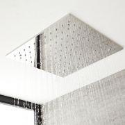 Pommeau de douche encastrable plafond 40x40cm Tatham