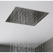 Pommeau de douche encastrable plafond 28x28cm Tatham