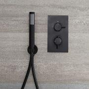 Mitigeur thermostatique encastrable & douchette noir - Nox