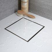 Caniveau de douche à carreler carré 20cm
