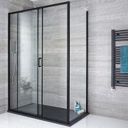 Paroi de douche latérale fixe 90cm Nox Noir