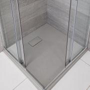 Receveur de douche carré gris perle 80x80cm - Rockwell